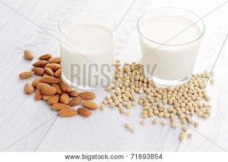different vegan milk - food and drink
