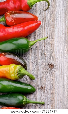 Frame Of Chili Peppers