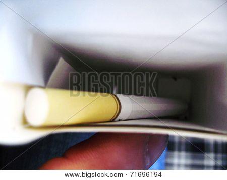 The Last Cigarette In The Flip Box