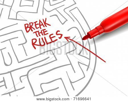 Break The Rules With A Red Marker