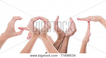 Hands Form The Word Gout
