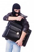 pic of stolen  - Robber with stolen suitcase and gun - JPG