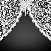 foto of lace-curtain  - Template for wedding - JPG
