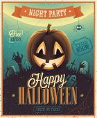 stock photo of halloween  - Happy Halloween Poster - JPG