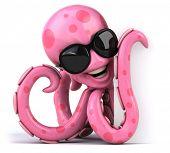 foto of octopus  - Fun octopus - JPG