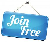 stock photo of joining  - join free no registration fee for subscription - JPG