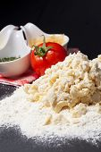 foto of bakeshop  - Dough background - JPG