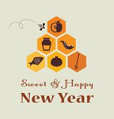 pic of hamsa  - Greeting card for Jewish New Year - JPG