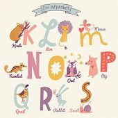picture of letter k  - Cute zoo alphabet in vector - JPG