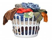 picture of smelly  - Big basket full of smelly clothes ready to be washed - JPG
