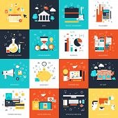 pic of e-business  - Vector collection of flat and colorful business and finance concepts - JPG