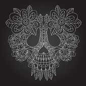 stock photo of day dead skull  - Day of the Dead Sugar Skull  - JPG
