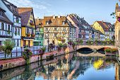 picture of petition  - Colorful traditional french houses on the side of river Lauch in Petite Venise Colmar France - JPG