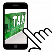 picture of irs  - Tax On Credit Debit Card Displaying Taxes Return IRS - JPG