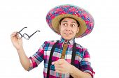 pic of sombrero  - Funny mexican with sombrero in concept - JPG