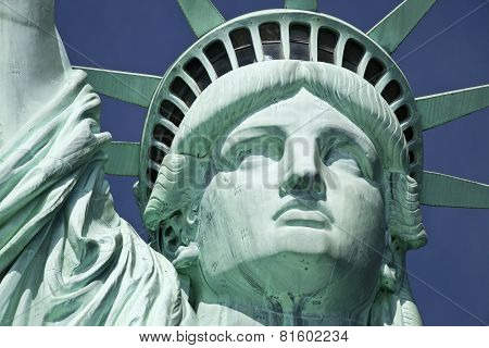 Usa, New York, Statue Of Liberty