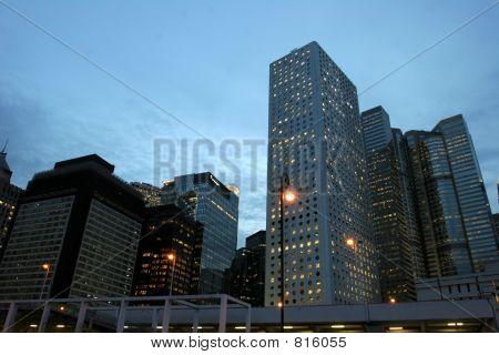 A sunset citylife