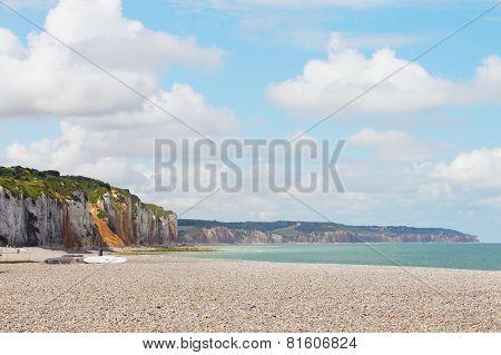 Cliffs And Beach In Dieppe