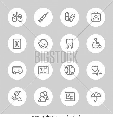 Medicine web icons set