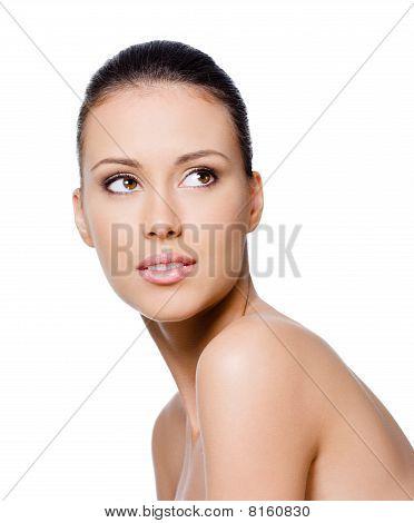 Wwoman mit sauberen Gesicht