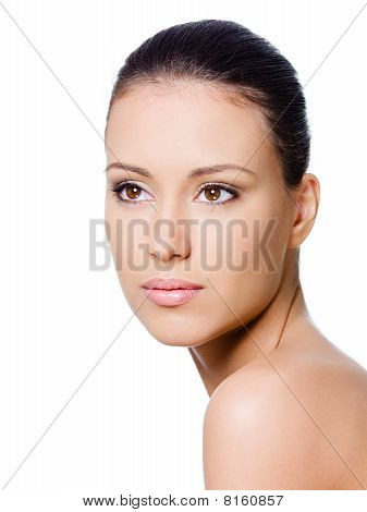 Portrait Of Clean Woman's Face