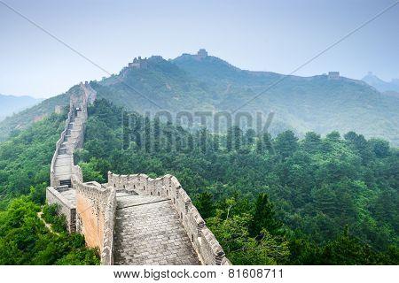 Great Wall of China at Jinshanling sections.