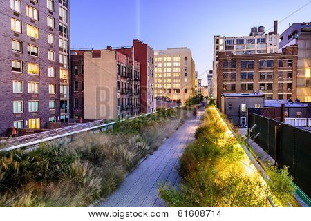 New York City, USA on the High Line Park.