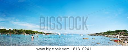 KAMENJAK, CROATIA - AUG 22 2014 - half island on Cape Kamenjak, Istria, Croatia, Europe