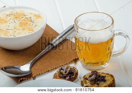 Creamy Onion - Garlic Soup