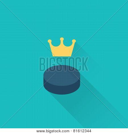 hockey puck sport icon