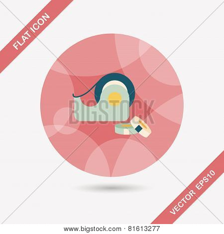 Adhesive Tape Flat Icon With Long Shadow