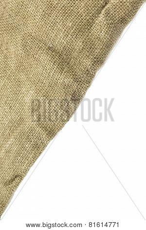 Hessian Burlap Sacking Corner White Isolated Background