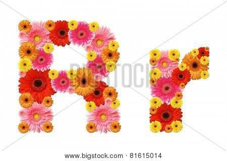 r, flower alphabet