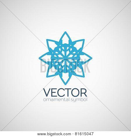 Vector ornamental symbol