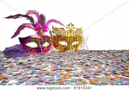 Carnival Party Props on white background