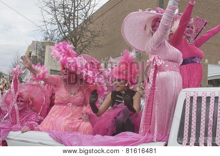 Hot Mardi Gras Pink