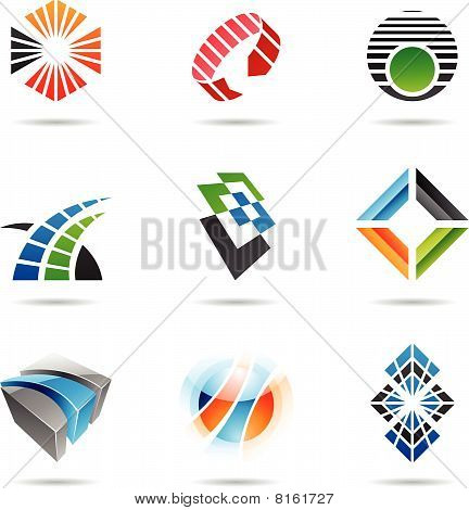 Various colorful abstract icons,