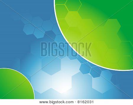 abstract hexagon background, vector illustraction