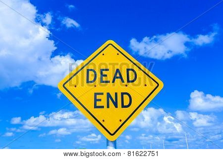 Dead End Street Sign Under Blue Sky