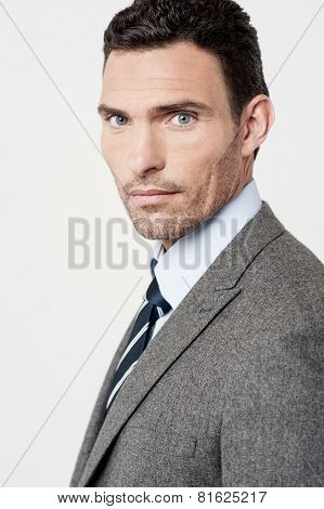 Confident Businessman Posing