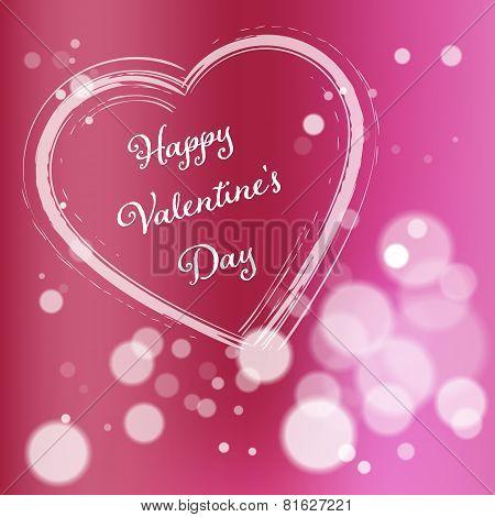 Pink Valentine Day Postcard