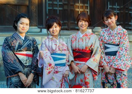 Japanese Ladies in Kyoto