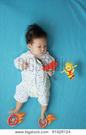 Baby fantasy fight with Sun Wukong