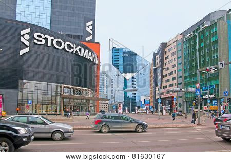 Tallinn. Estonia. Stockmann and SEB Bank