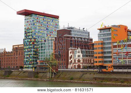 Modern architecture  in Dusseldorf Germany