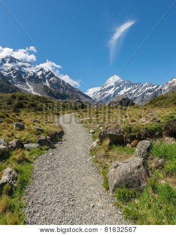 Walking Track in Mount Cook National Park