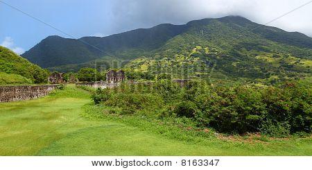 Mount Liamuiga from Brimstone Hill