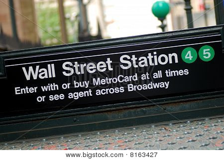 New York City Wall Street subway station