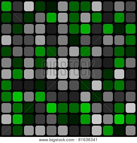 Abstract Pattern Rounded Squares With Black Grille