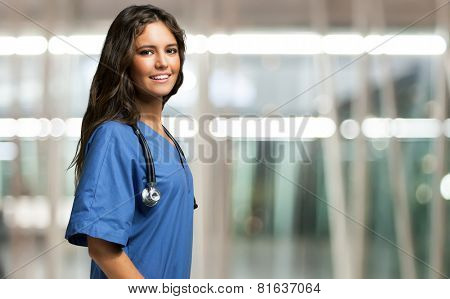 Portrait of a beautiful smiling nurse